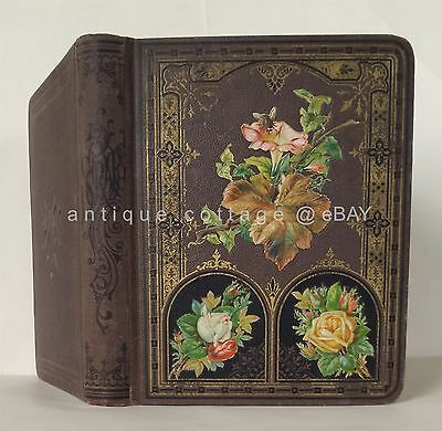 1880 antique VICTORIAN DIE CUT SCRAPBOOK norristown pa AD CARDS CHRISTMAS RR