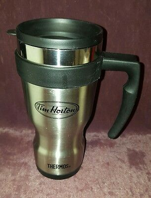 Tim Hortons Stainless Steel Thermos Travel Mug With Handle - Coffee Cup