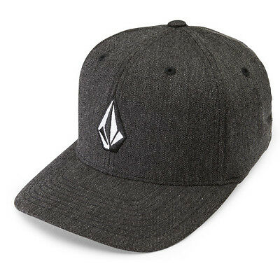 Volcom Full Stone Heather Flexifit Mens Headwear Cap - Charcoal All Sizes