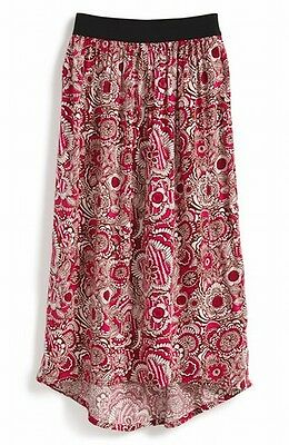 Tucker + tate NEW Pink Girl's Printed Floral Hi-Low Skirt Size 7-8 #363 DEAL