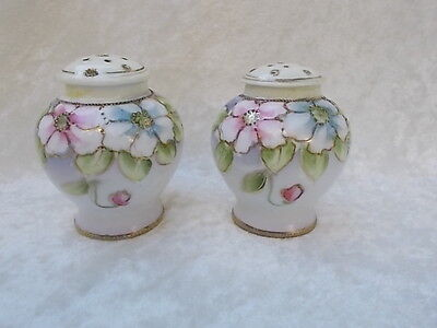 Antique/Vintage Nippon Hand Painted Morimura Bros. Salt & Pepper Shakers