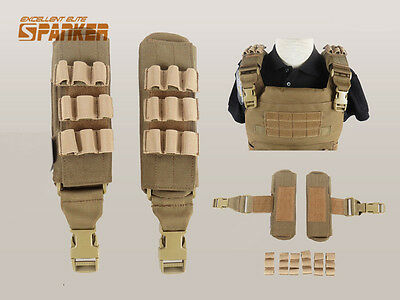 Tactical Military Molle Shoulder Pads for Vest Plate Carrier 6094 Outer Vest CB
