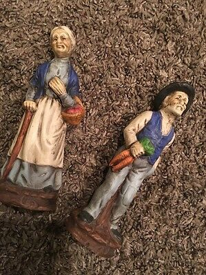 Vintage Home Interior Figurines Old Man And Woman