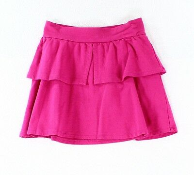 Tea NEW Solid Pink Girl's Size 7 Stretch Pull-On Flutter Skirt $30 #818 DEAL