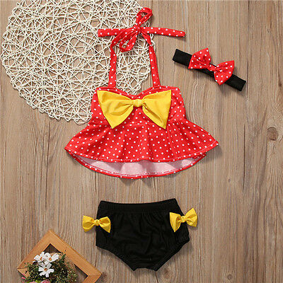 Baby Toddler Kids Girls Tankini Bikini Swimwear Bathing Suit Summer Beachwear