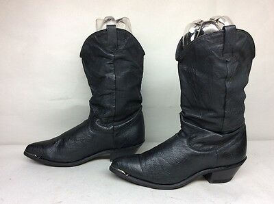 Womens Unbranded Toe Rand Cowboy Leather Black Boots Size 7.5 M