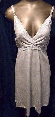 Nwt Secret Possessions Maternity Nursing Chamise Night  Gown Size Medium 6-8