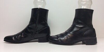Mens Unbranded Casual Leather Black Boots Size 10.5 D