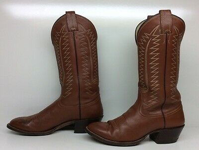 Mens Unbranded Cowboy Leather Brown Boots Size 9 D