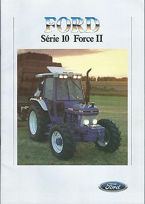 Farm Tractor Brochure - Ford - 2910 8210 et al Serie 10 c1986 FRENCH (F5192)