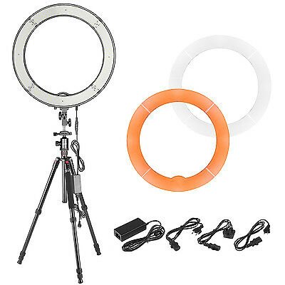 """Neewer 18"""" 55W LED SMD Dimmable Ring Light, 64 inches Camera Tripod Monopod"""