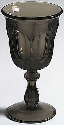 Imperial Glass Ohio OLD WILLIAMSBURG BROWN Water Goblet 237484