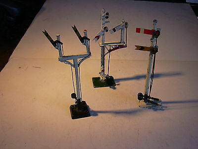 OO gauge -  Crescent+ Hornby - 3 signals for spares / repairs