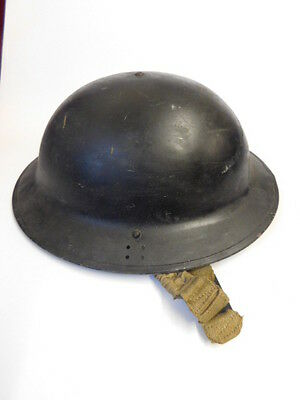 """Original Ww2 British Tommy Helmet Dated 1940 Marked """" Lindsey Cc """" Lincolnshire"""