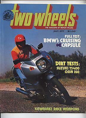 1977 Two Wheels Magazine BMW R100RS Ossa Suzuki TS400 Dalesman Morgan Laverda