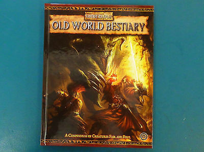 Old World Bestiary - Warhammer Fantasy Roleplay 2nd Ed - Excellent Condition