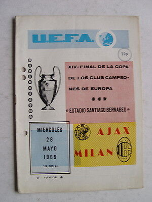 Ajax v AC Milan 1969 European Cup Final