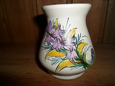 Very Rare Axe Vale Vase In Mint Condition Signed Gm Hand Painted Studio Pottery