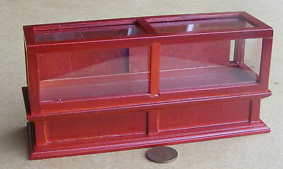 1:12 Scale Mahogany Colour Wood Shop Display Counter Tumdee Dolls House 273m