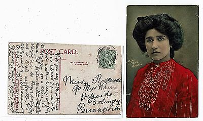 Post Card Real Photo Miss Marie Dainton