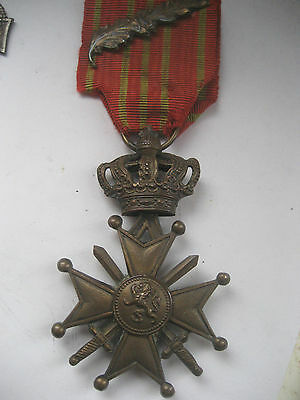 Ww1  Belgian Croix De Guerre With 1 Palm For Bravery.