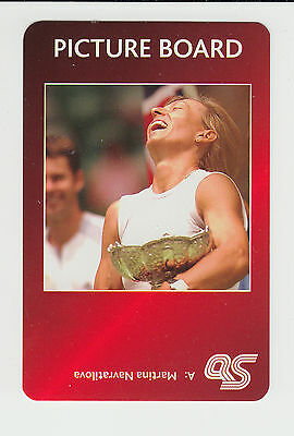 Tennis : Martina Navratilova : UK sports game card - red back
