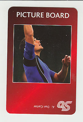 Rugby Union : Dan Carter : New Zealand : UK sports game card - red back