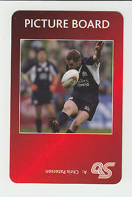 Rugby Union : Chris Paterson : Scotland : UK sports game card - red back