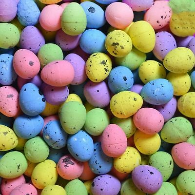 100 Mini Colourful Speckled Easter Eggs Decorating Bonnets Craft Egg Hunt 06477