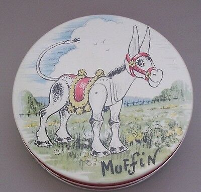 Huntley & Palmers Biscuit Tin - Muffin The Mule - 1954