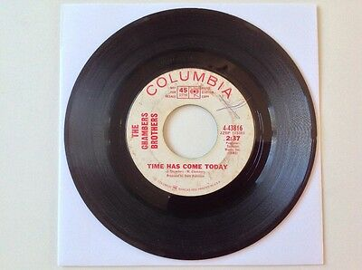 "The Chambers Brothers Time Has Come Psych Soul Funk 7"" 45 Rpm Promo Single"