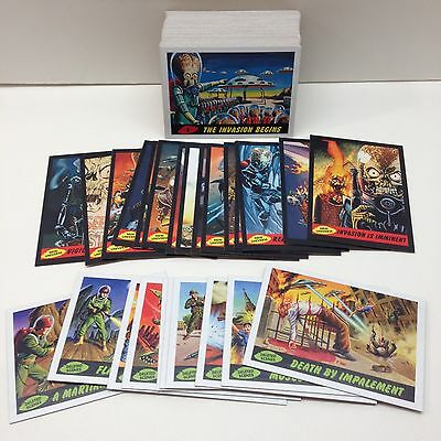 MARS ATTACKS! HERITAGE (Topps/2012) Complete Base Card Set w/25 Chase Cards (80)