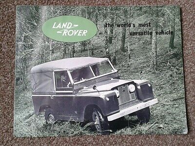 Land Rover Series 2 (not 2a) Fold Out Sales Brochure 573 c.1960 FREE UK POST