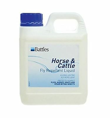 Battles Horse & Cattle Fly Repellent Liquid - Contains DEET and the natural f...