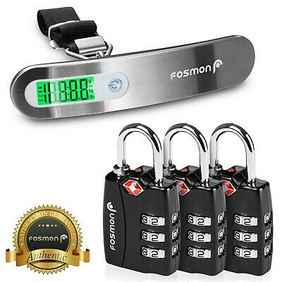 FosPower 3x TSA Approved Open Alert [3 Digit] Dial Travel Suitcase Luggage Lock