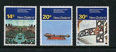 1979 New Zealand Mnh Sg1207-1209 Parliamentary Conference Stamp Set