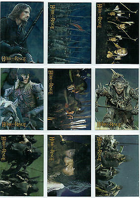 Lord Of The Rings Two Towers Set Of 10 Foil Cards German Printing