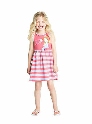 Disney Sofia Girls Jersey Summer Dress in Pink Size 4-5 Years