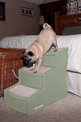 Pet Gear Easy Step III Large Small Dog Cat Pet Steps Sofa Bed Ramp Stair Sage