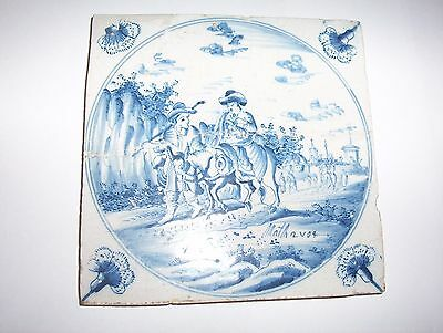 Delft Tile c. 18th / 19th  century   (5)   Flight into Egypt