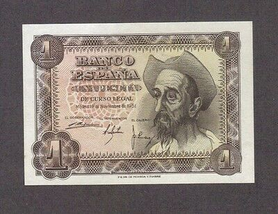 1951 1 Peseta Spain Spanish Currency Gem Unc Banknote Note Money Bank Bill Cash