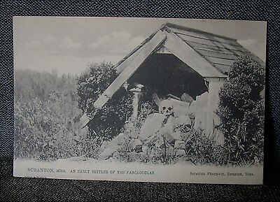 Old Postcard EARLY SETTLER of the PASCAGOULAS Tuck Scranton Mississippi Skull MI