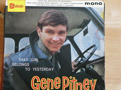 """GENE PITNEY """"THAT GIRL BELONGS TO YESTERDAY"""" 60s POP BEAT VERY GOOD + CONDITION"""