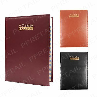 Large Premium A-Z Index +QUALITY PADDED ADDRESS BOOK+ Phone Desk Organiser