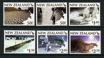 2008 New Zealand Mnh Sg3025-3030 Weather Extremes Commemorative Stamp Set