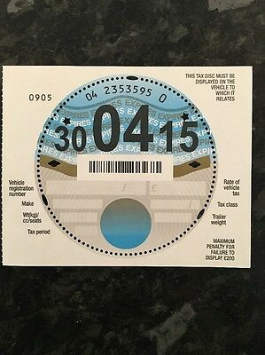 1 Unused Mint Condition Tax Disc