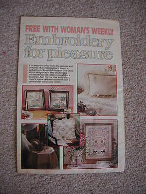 Vintage Woman's Weekly Embroidery For Pleasure Pullout