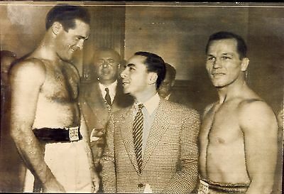 PHOTO originale  Marcel CERDAN . boxe . boxeur . combat