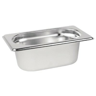 Stainless Steel 1/9 Gastronorm Container / Lid Bain Marie Gastro Food Pans
