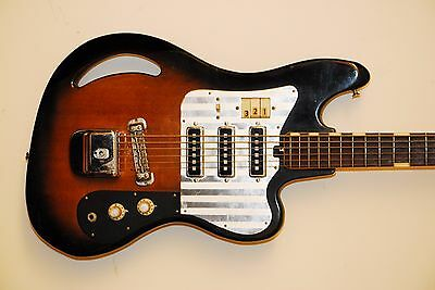 60's Teisco TB64 Remake, awesome 6 string bass!!